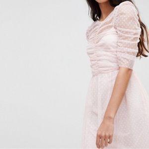 Asia Blush Swiss dot dress